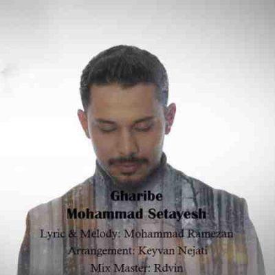 عکس کاور آهنگ جدید محمد ستایش به نام غریبه عکس جدید محمد ستایش