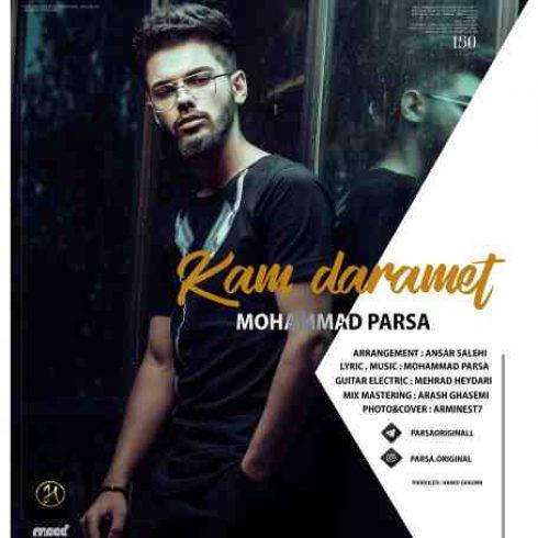 دانلود آهنگ جدید محمد پارسا به نام  کم دارمت / کیفیت اورجینال 320